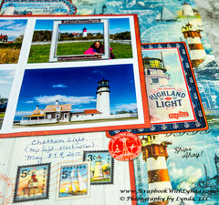 Lighthouse Scrapbook Layout with Graphic 45