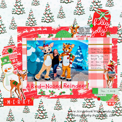 Rudolph and Clarice at Sea World Christmas Scrapbook Layout