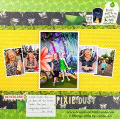 Tinker Bell at Disney World Scrapbook Layout