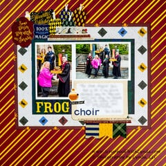 Hogwarts Frog Choir in the Wizarding World of Harry Potter, Universal Orlando Scrapbook Layout