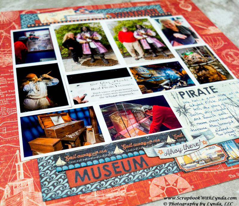 Whydah Pirate Museum Scrapbook Layout