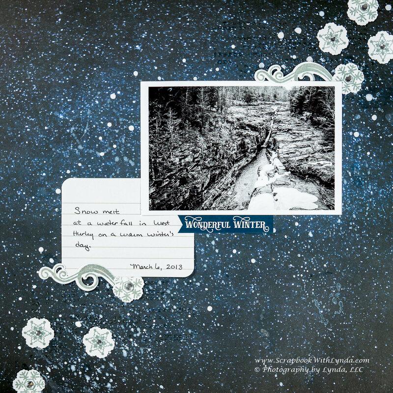 Mixed Media Snowflake Scrapbook Layout