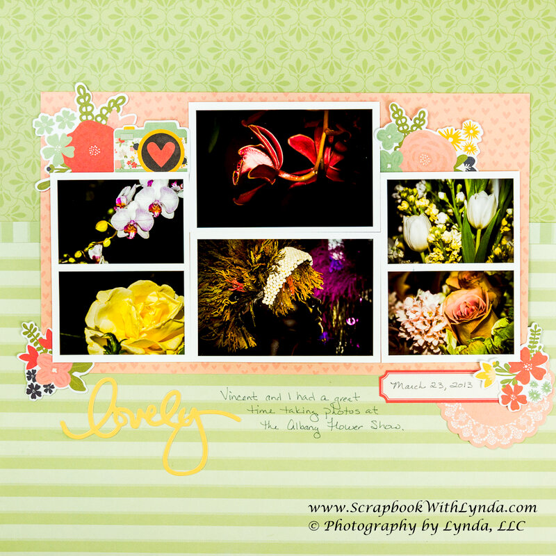 Lots of Photos on a Scrapbook Layout