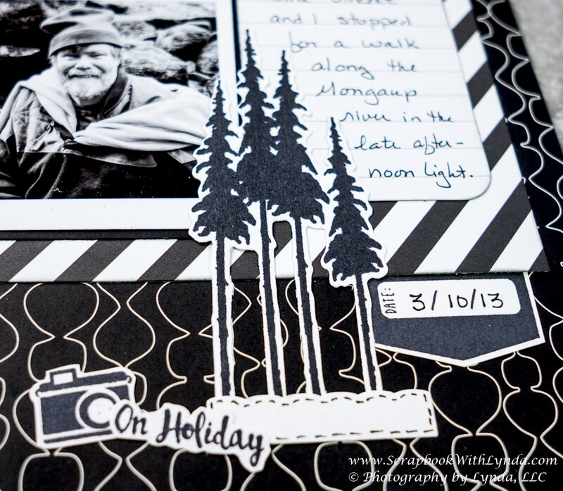 Classic Black and White Scrapbook Layout