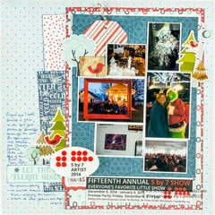 Keepsakes on a Scrapbook Layout