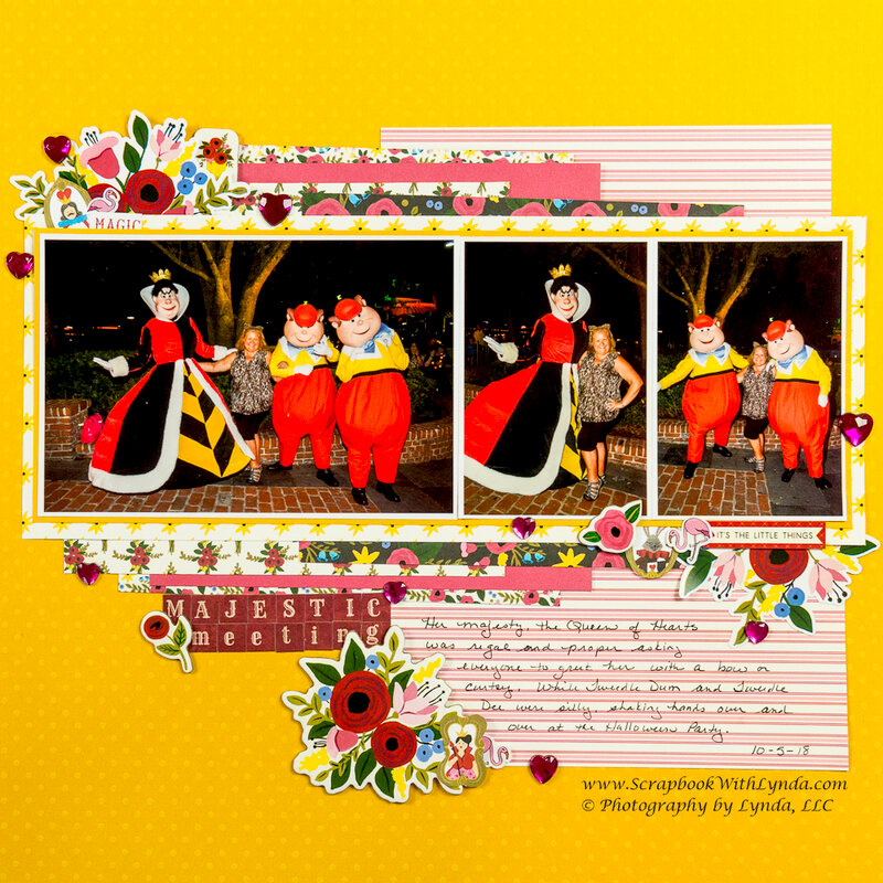Queen of Hearts, Tweedle Dum & Tweedle Dee Disney Layout