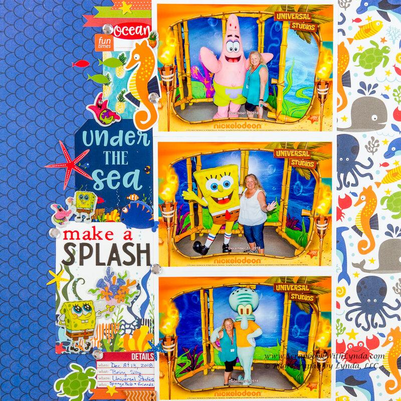 SpongeBob, Patrick Star and Squidward at Universal Orlando