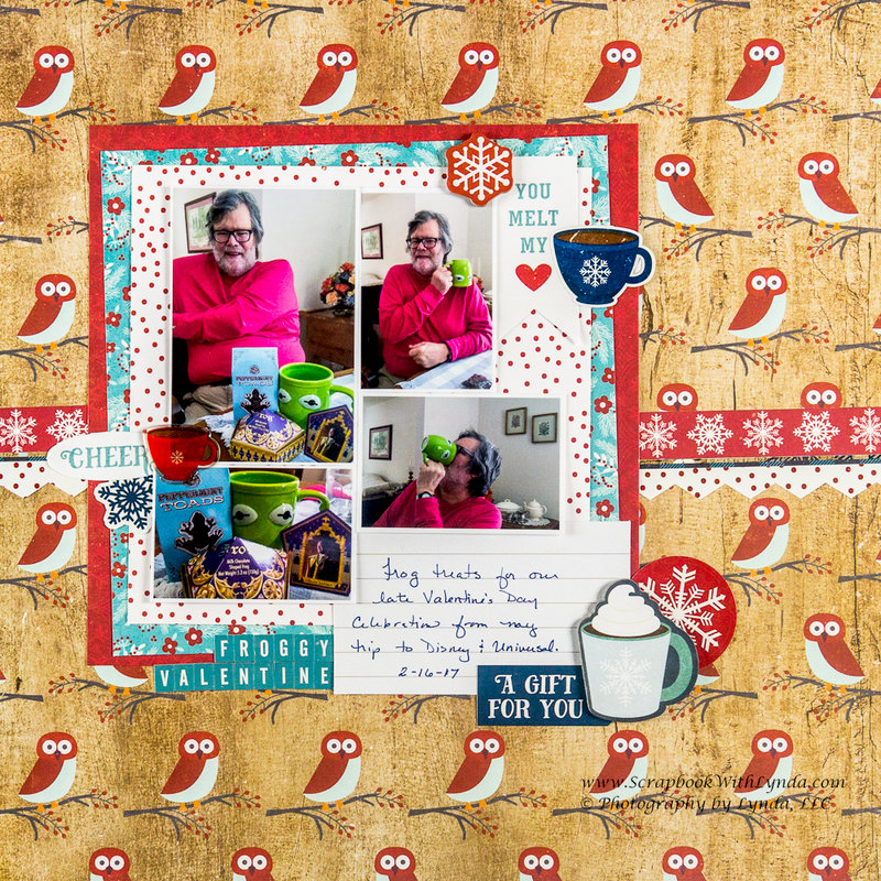 Tips for Using Busy Scrapbook Paper