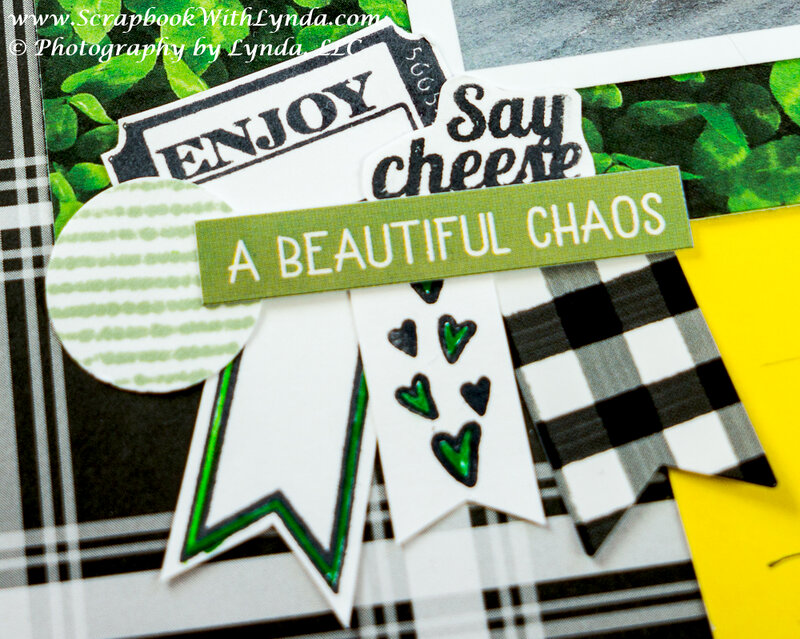 Making Stamped Embellishments for a Scrapbook Layout