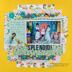 Aladdin & Jasmine Scrapbook Layout - Layering Tips