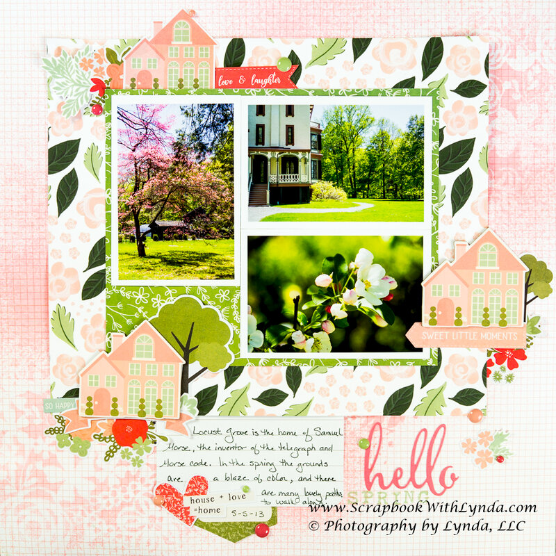 Stenciling on a Scrapbook Layout