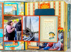 By the Sea Mini Album Page Style 1 & 2