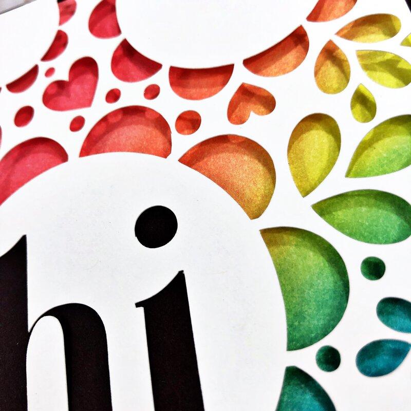 World Card Making Day Card Close-Up