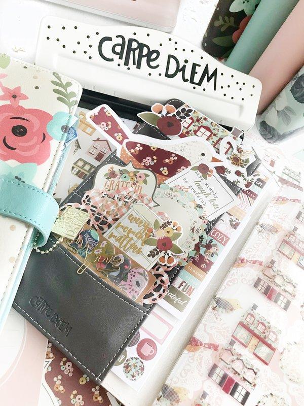 Black Vintage Rose Travelers Notebook