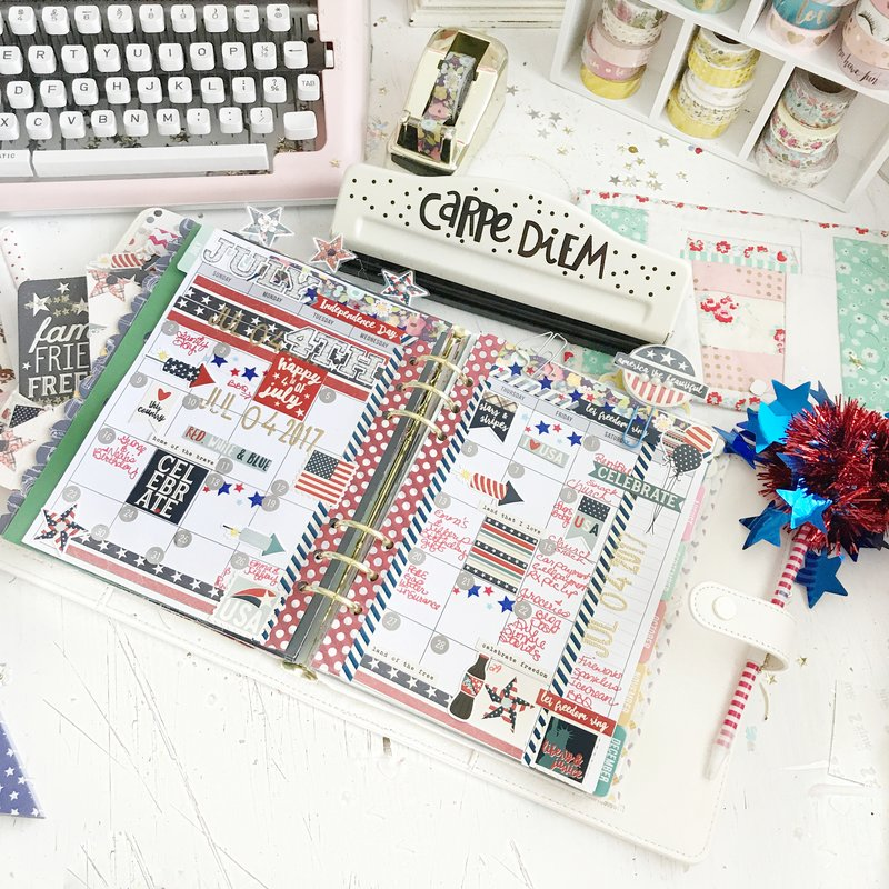 Monthly planner layout