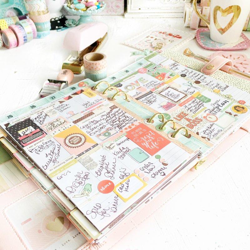Weekly planner spread