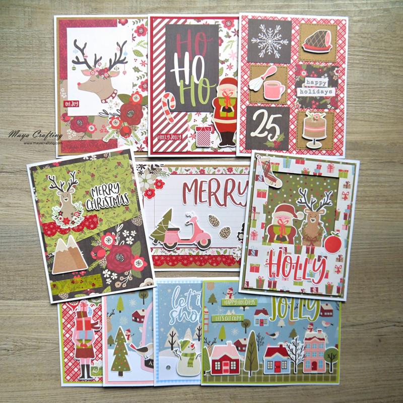 1 Kit 10 Christmas Cards