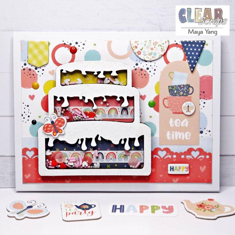 Card - Birthday Cake Shaker Card