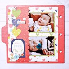 Album - Baby 6x6 Chipboard Tabbed Album