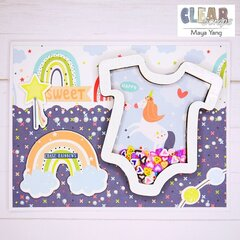 Baby Onesie Shaker Card