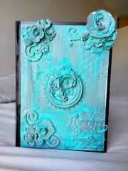 Distressed journal cover