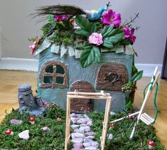 Mixedmedia Fairy House
