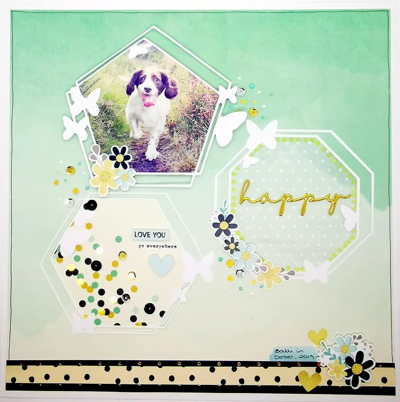 Layout Using Paper Passion Posh svg cut files