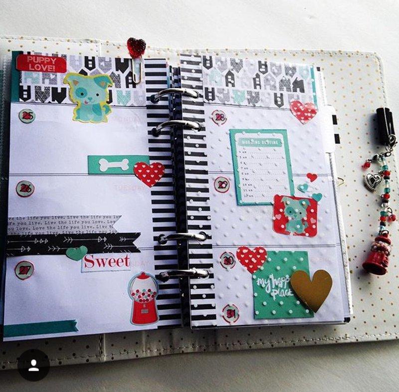 Heidi Swapp Planner Layout