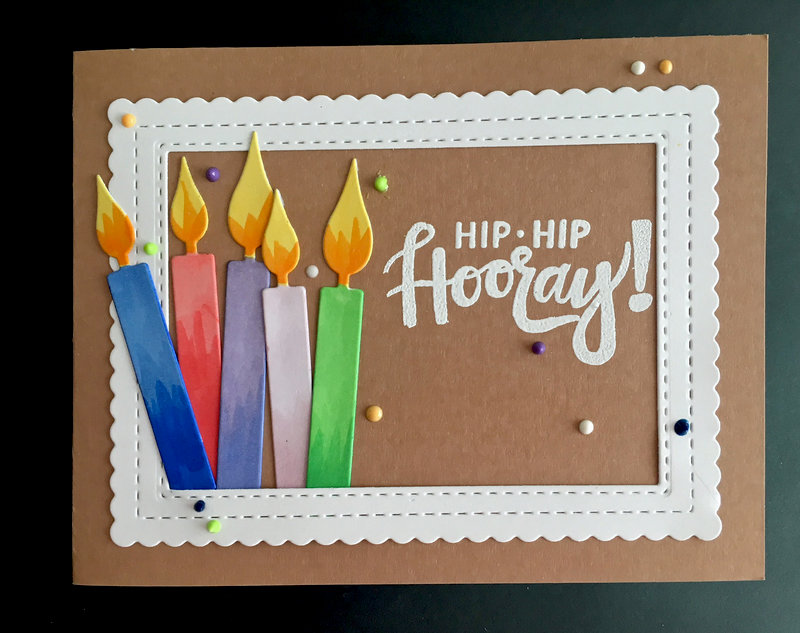 Hooray Candles Birthday Card