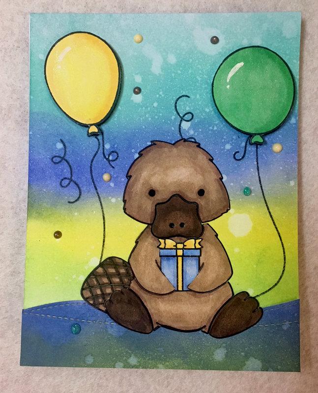 Platypus Birthday card