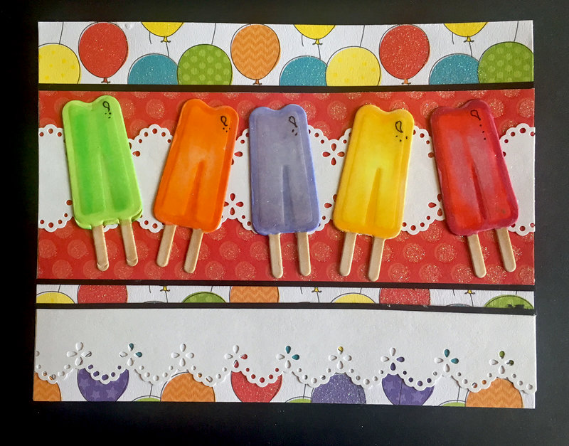 Popsicle Parade Birthday Card