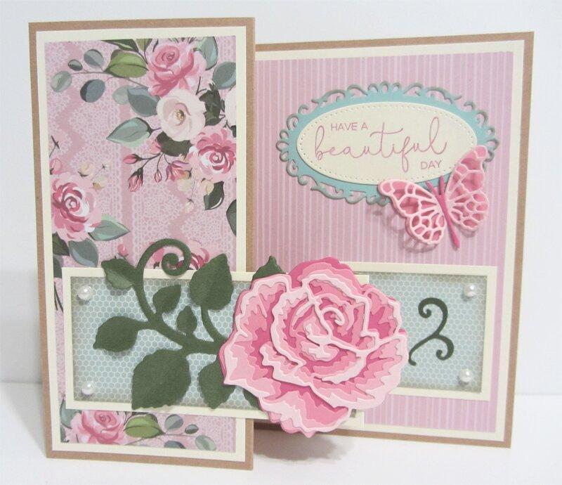 Rose Z-Fold Card
