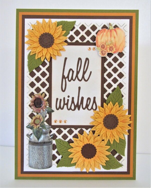 Sunflowers with Fall Wishes