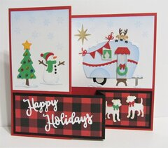 Christmas Z-Fold Card with Camper