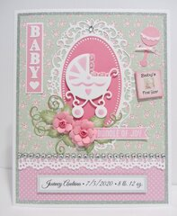 Baby Girl Card with Buggy