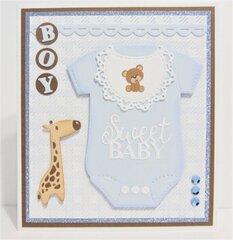 Baby Boy Card with Giraffe