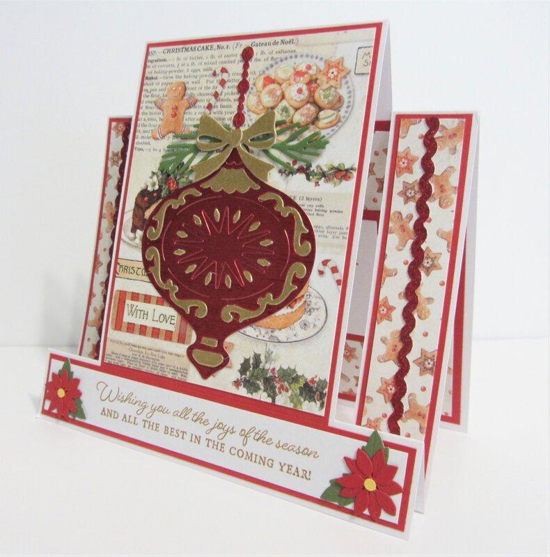 Center Step Christmas Card Side