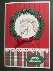 Christmas Card with Horse