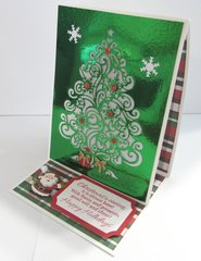 Foil Tree Tea Light Candle Christmas Card