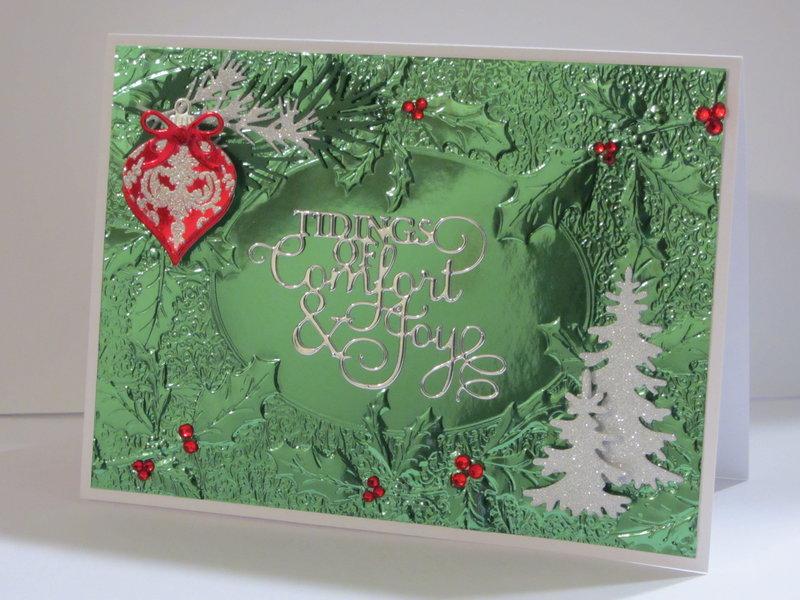 Holly Foil Christmas Card