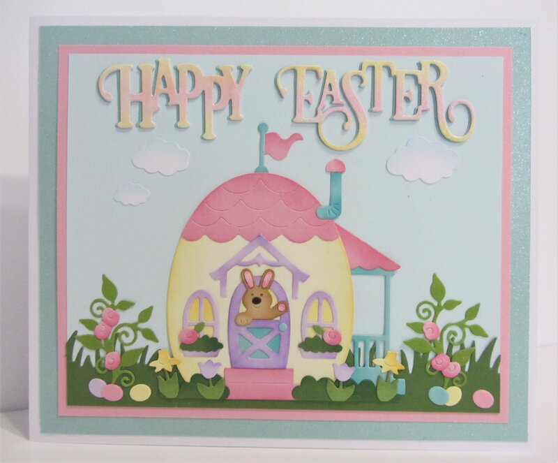 Easter Cottage Card