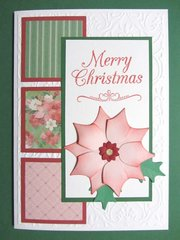 Pink Poinsettia Christmas Card