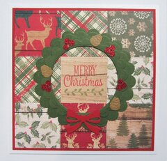 Quilted Rustic Christmas Card