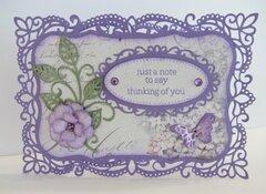Purple Rococo Frame Card