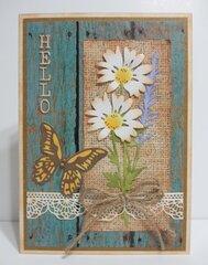 Rustic Daisy Card