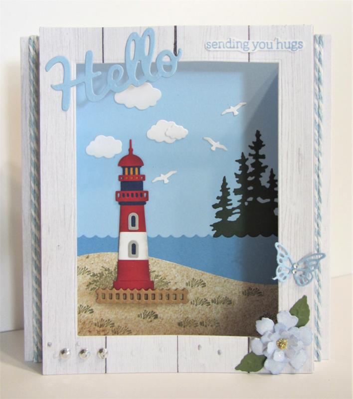 Lighthouse Shadowbox Card