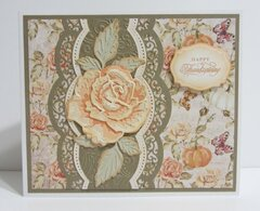 Thanksgiving Card with Rose