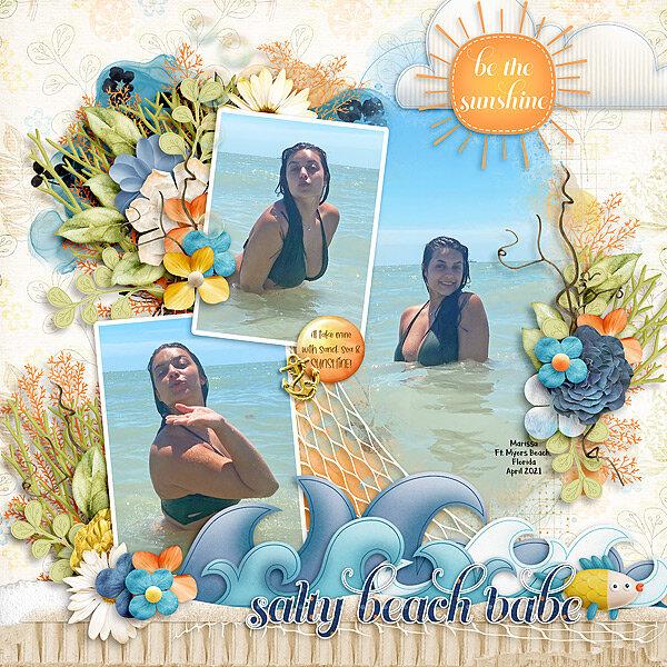 salty beach babe