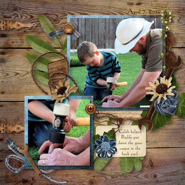 Helping Daddy