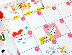 Carpe Diem A5 Planner February Monthly Layout Spread Close-up